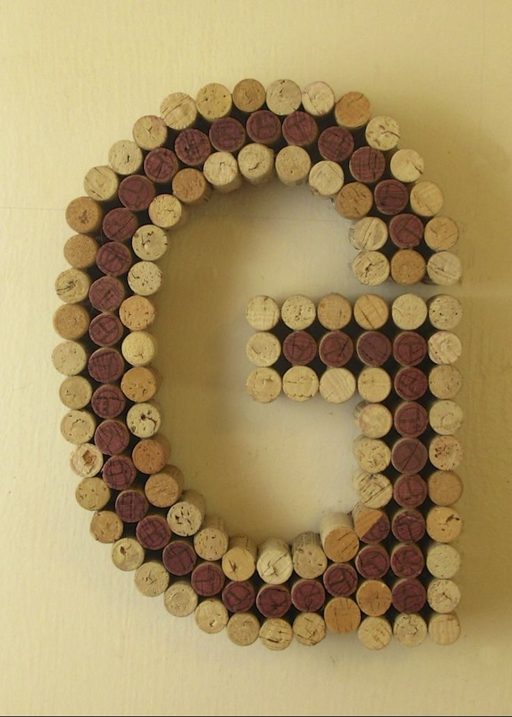 Wine cork G Custom cork letters in