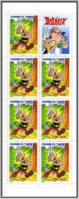 Carnet de timbres Astérix 1999