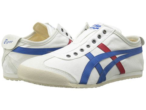 $80 Bev Zappos Onitsuka Tiger by Asics Mexico 66® Slip-On White/Tricolor - Zappos.com Free Shipping BOTH Ways