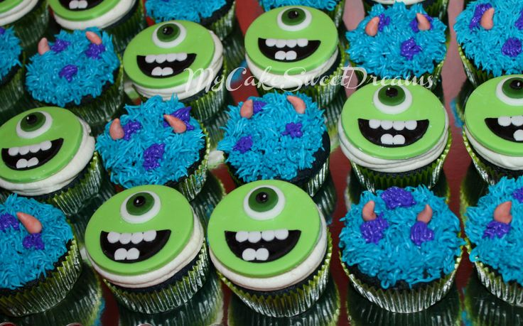 Monsters Inc Birthday CupCake