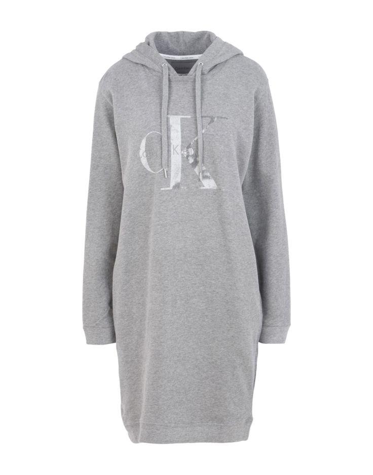 #CALVIN KLEIN JEANS Damen Kurzes Kleid Farbe Grau Größe 5, 34789680FS-5