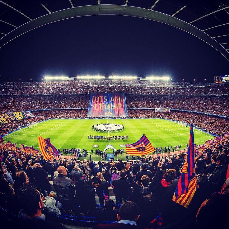 """130.4 mil Me gusta, 2,147 comentarios - FC Barcelona (@fcbarcelona) en Instagram: """"We ❤️ Camp Nou Barça Fans! #FCBPSG #ForçaBarça!"""""""