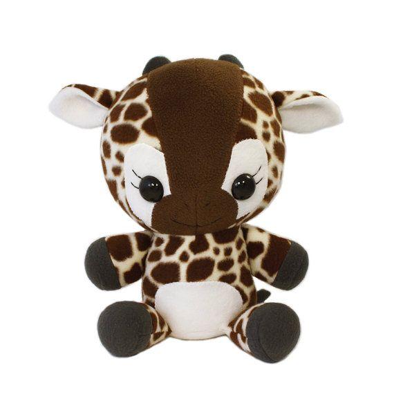 Plushie Sewing Pattern PDF Cute Soft Plush Toy - Lulu Baby Giraffe Cuddly Stuffed Animal 16 via Etsy