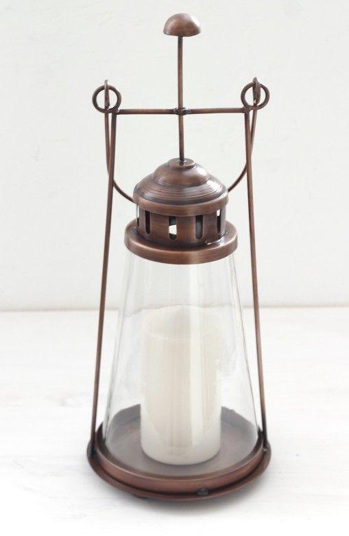 Состаренный медный фонарь для свечи www.thekomillfocollection.ru