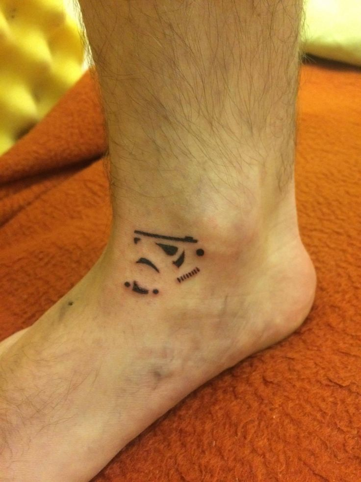 Storm Trooper, hand poke, Analog Tattoo Budapest
