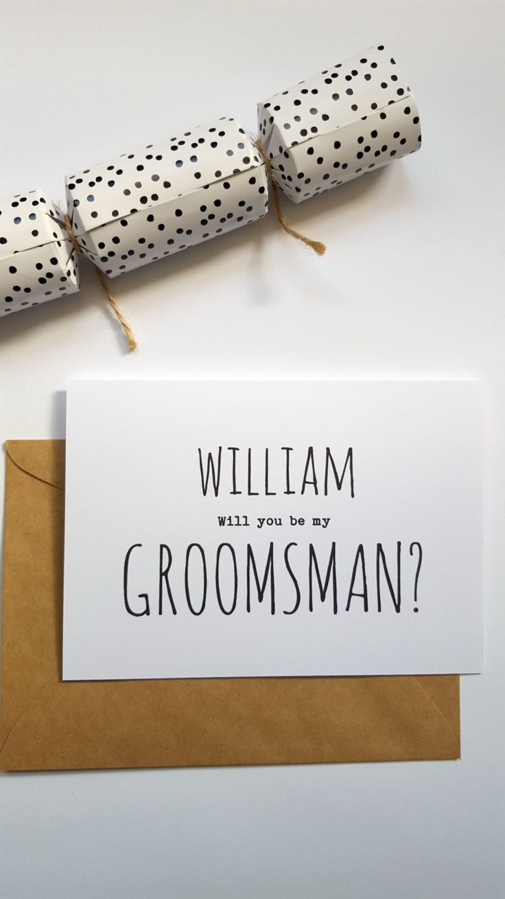 Personalised Will you be my Groomsman/ Best Man Card- C35c