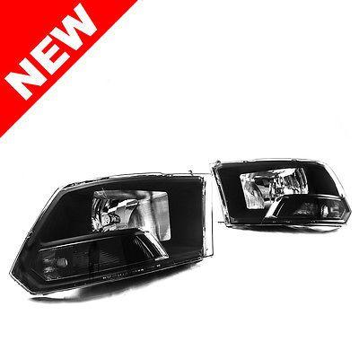 PREMIUM-Quality-2009-2016-Dodge-Ram-1500-2500-3500-Black-Headlights-Headlamps