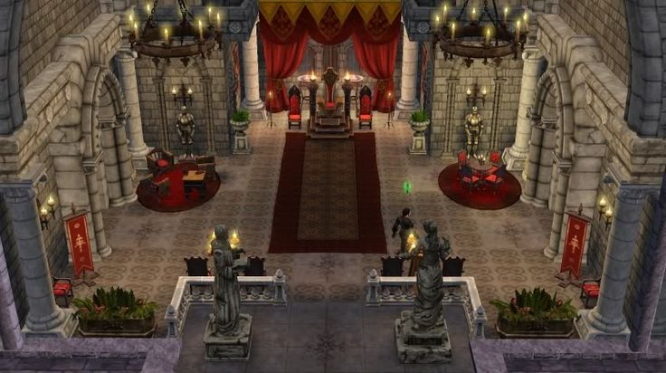 Sims Medieval Throne Room Designs