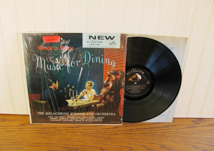 Vintage Record Music for Dining Melachrino Strings and Orchestra Moods in Music Dinner Music Mid Century Music Romantic Music Easy Listening by HipCatRetroVintage on Etsy