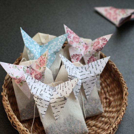 Origami Butterfly Teabags - A lovely entertaining and gift idea.