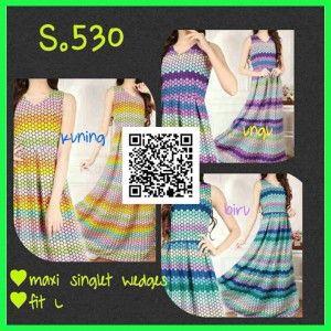 Baju Maxi Singlet Wedges Remaja | Model Gamis Terbaru