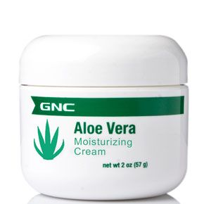GNC Aloe Vera Cream.  Love the texture and smell. Absorbs really fast leaving skin smooth and soothed.