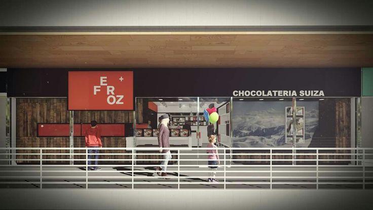 WIP - FEROZ, Chocolateria Suiza. Ya estamos cerrando últimos detalles en muebles para comenzar la implementacion.  #arquitectura #architecture_hunter #ngearquitectura #diseño #chocolateria