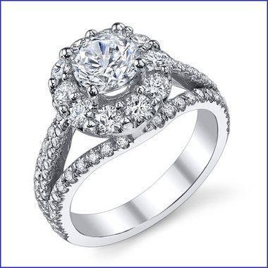 Gregorio 18K WG Diamond Engagement Ring R-539