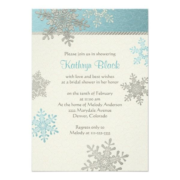 blue silver ivory snowflake winter bridal shower invitation 227 by wasootch the post blue silver ivory snowflake winter bridal shower invitation appeared