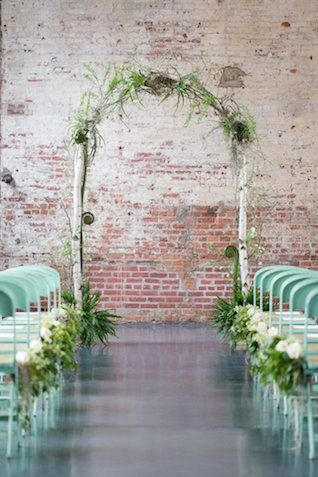 Gorgeous mint green chairs