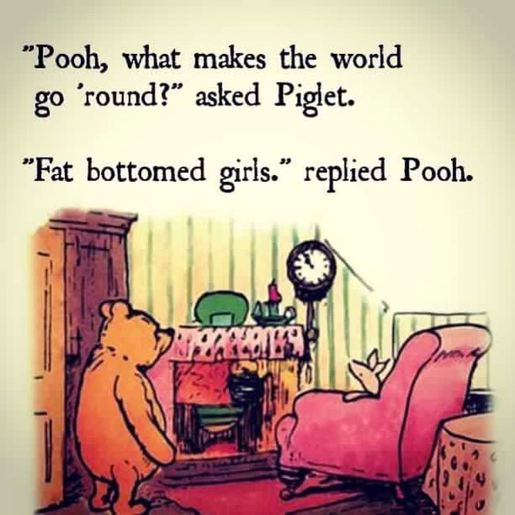 Pooh's into classic rock.  ~~ Houston Foodlovers Book Club