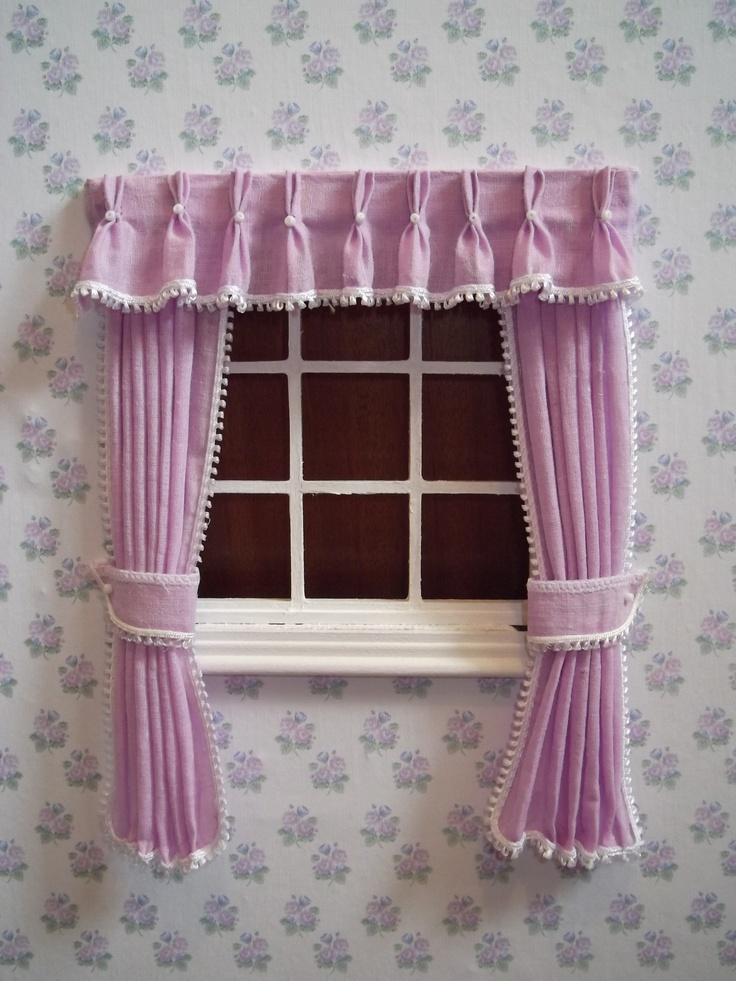 First Attempt At Dolls House Pinch Pleat Curtains