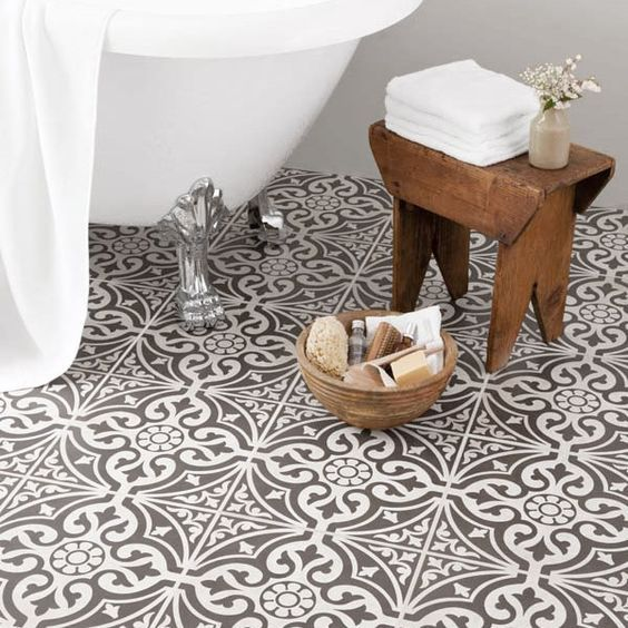 Victorian inspired floor tiles for my kitchen BCT Tiles – 9 Devonstone Grey Feature Floor Tiles – 331x331mm – BCT11064