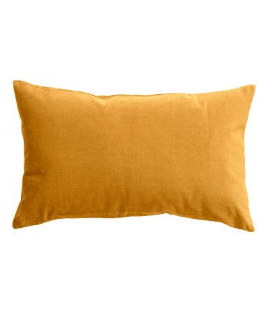 Light gray or mustard yellow. Cushion cover in cotton velvet with concealed zip.