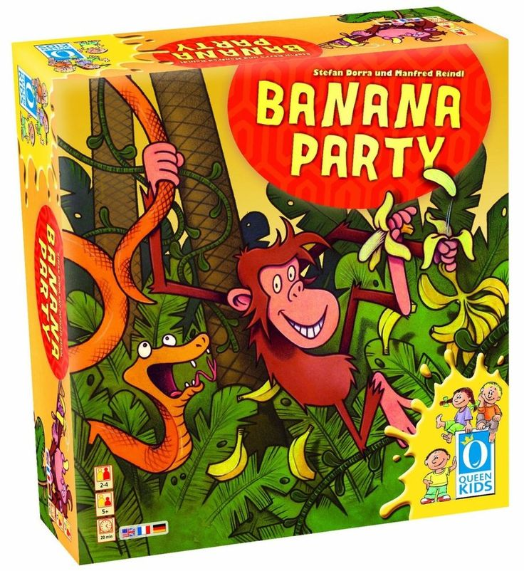 Queen Games Banana Party Fun Family Kids Board Fast Paced Game Monkey Animals #QueenGames