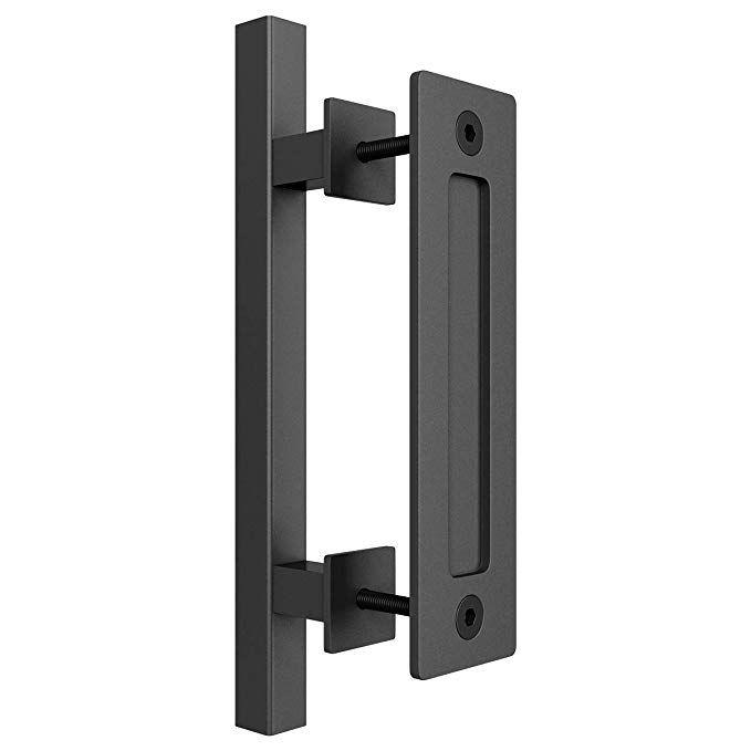 Amazon Com Smartstandard Heavy Duty 12 Pull And Flush Barn Door Handle Set Large Rustic Two Side Design For Door Handles Barn Door Handles Door Handle Sets