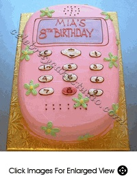 Cute cell phone cake... I think this is doable...