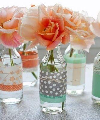 10 Ideas para Decorar Botellas para Centros de Mesa en Fiestas de XV Años