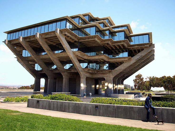 1970s_Brutalist Arcitecture, UCSD Library More Architecture as art, and a cool example of an already interesting form of art.