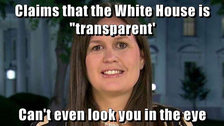 Scumbag Sarah Huckabee Sanders
