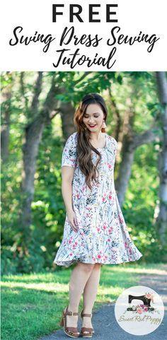 DIY Women's Swing Dress Sewing Tutorial using a Free Pattern