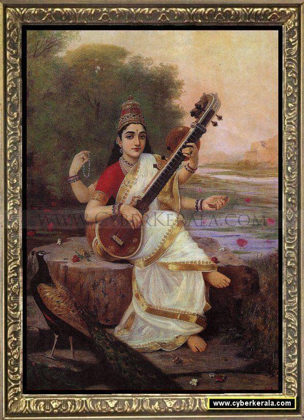 Goddess Saraswathi-by Raja Ravi Verma