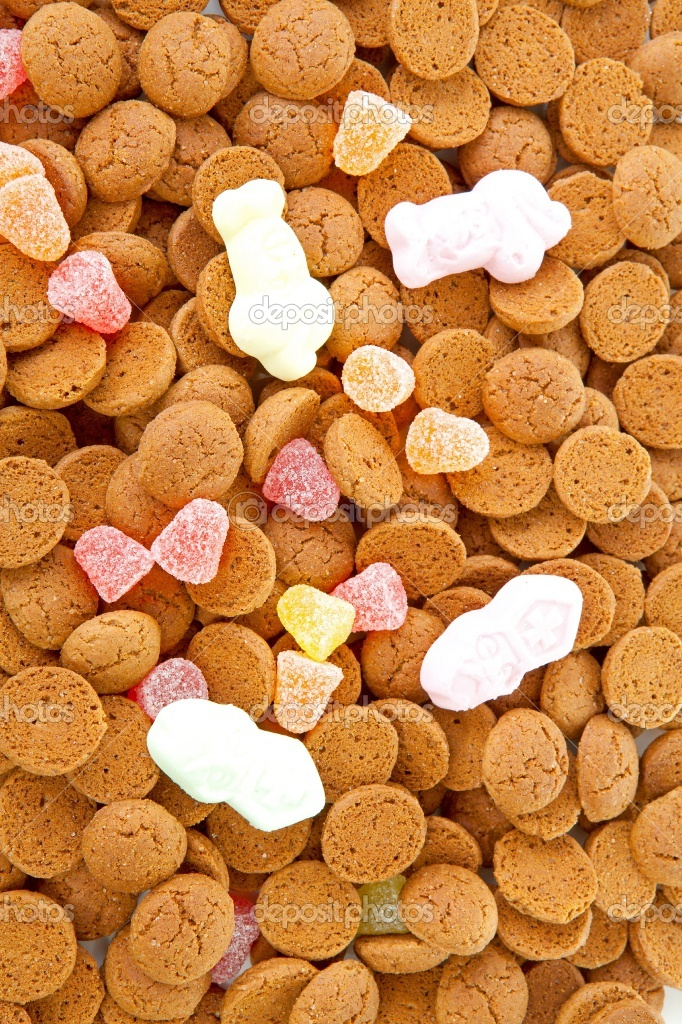 Dutch sweets, strooigoed, only with the hollyday Sinterklaas 5 dec.
