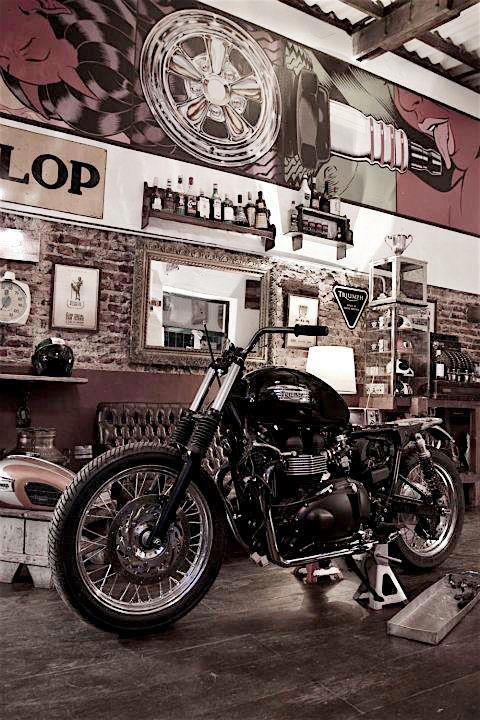 "I like the ""hard"" biker style mixed with the soft tufted leather, mirror, etc."