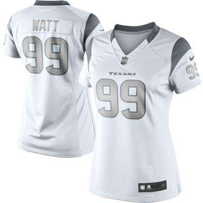 JJ Watt Houston Texans Nike Women's Platinum Jersey – White Lusting over this jersey!!