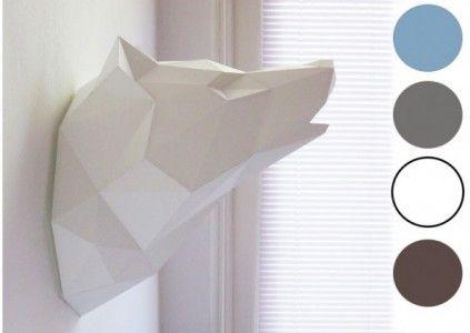 Trophée tête de loup en origami Assembli   Les Esthètes - Le Blog