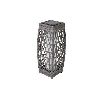 allen + roth 18-in Savona Grey Outdoor Solar LED Lantern