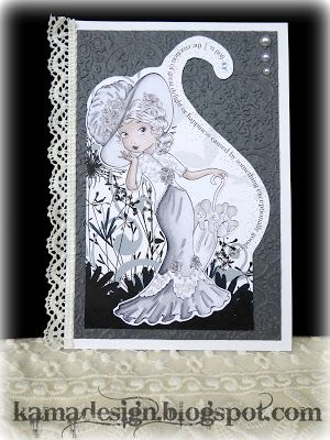 Monochrome card with promarkers