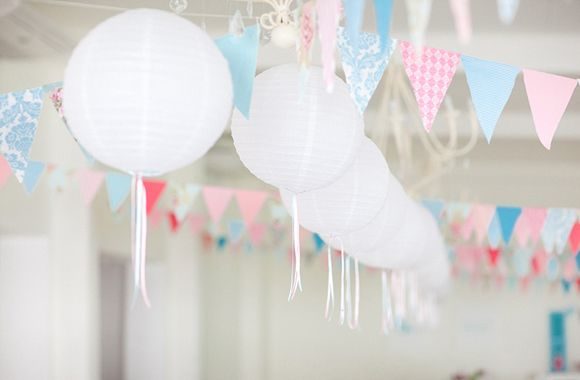 banners: Sweet Party, Party Design, Cotton Candy, Southern Weddings Magazines, Paper Lanterns, Party Hard, Party Decoration, Party Idea, White Lanterns