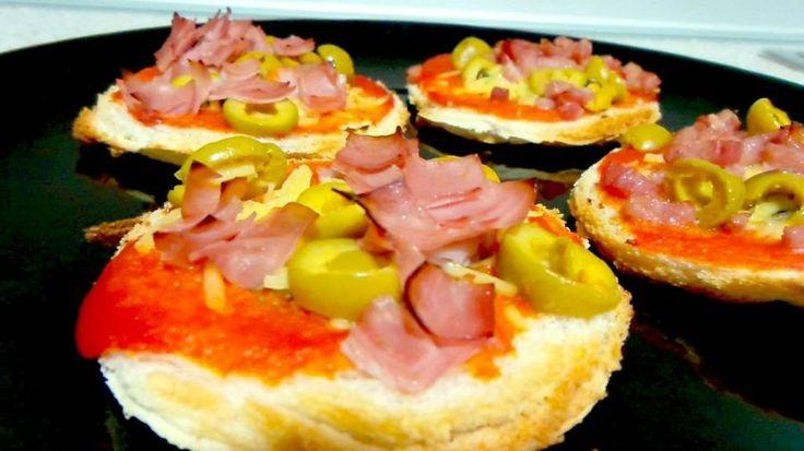 mini pizzas en 5 minutos.