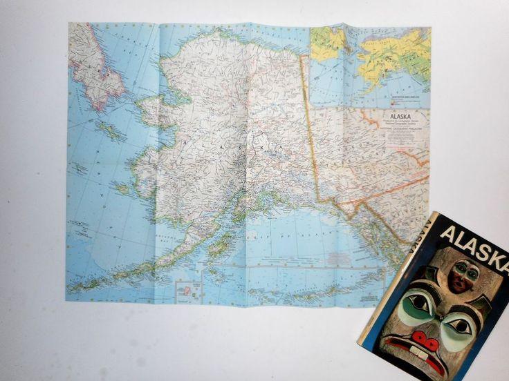 Alaska, Bern Keating 1971 National Geographic Society HC DJ w/Double-Sided Map