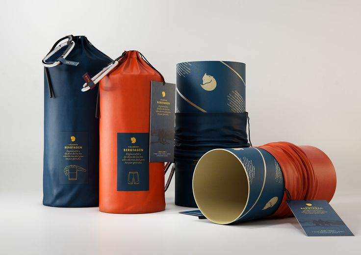 Packground was commissioned by Fjallraven to design a premium base layer  packaging for their 2017 launch of the unique Bergtagen garment system for  mountaineering activities. Cautious in their use of primary retail  packaging, due to the aspects of sustainability, Fjallraven challenged us  to