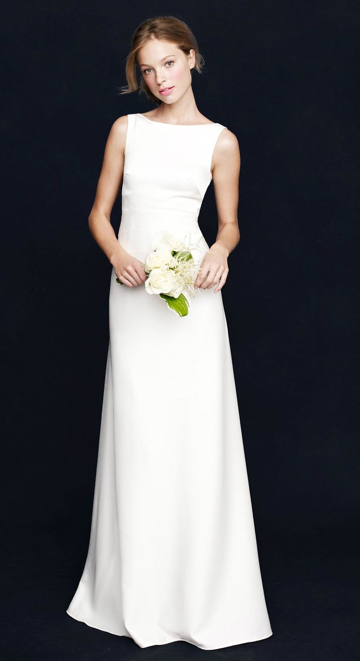 The perfect, simple boatneck wedding dress from J.Crew