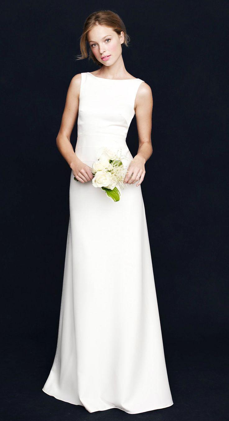 Christmas wedding dress jcrew - The Perfect Simple Boatneck Wedding Dress From J Crew
