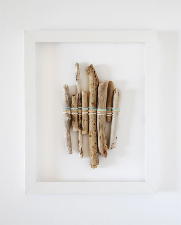 5 gorgeous kids craft ideas to make on a beach holiday, via We-Are-Scout.com: Driftwood colour weaving