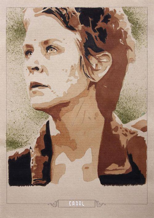 Carol Peletier - @mcbridemelissa - @WalkingDead_AMC - #terminus  Kraft Paper China Ink - Marker - Watercolor - Colorex