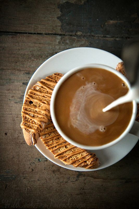 Pumpkin Biscotti with Caramelized White Chocolate (coffee pour!) | Will Cook For Friends