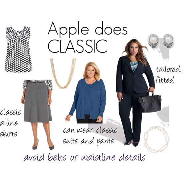 Apple does Classic by expressingyourtruth on Polyvore featuring August Silk, M&Co, Brooks Brothers, Anne Klein and plus size clothing