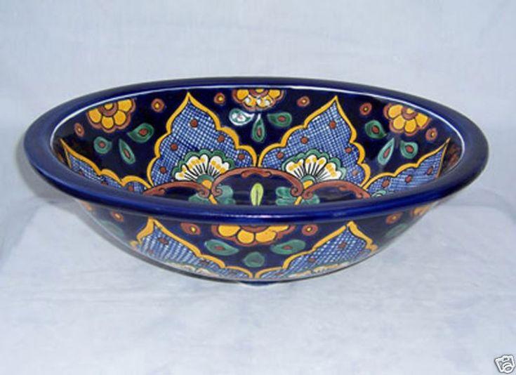 Mexican Talavera Ceramic Bathroom Sink. The White Color Used In Talavera  Itu0027s Off White (