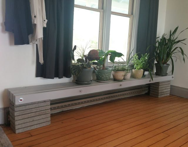 The House On The Bay Making A Baseboard Heater Safe Shelf